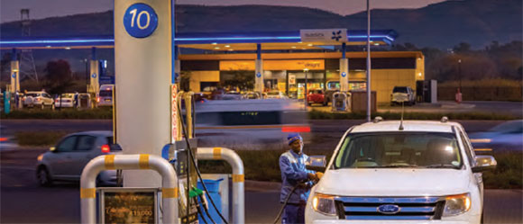Grow liquid fuels retail footprint in Southen Africa