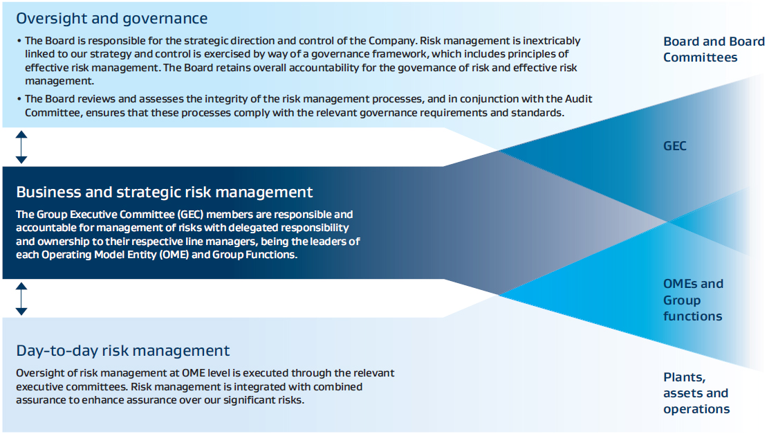 Governance and oversight of risk management